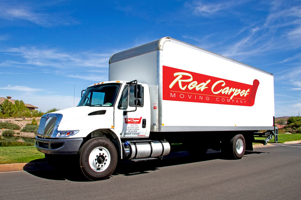 red carpet moving truck for local moves